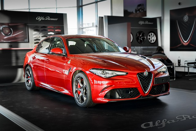 Alfa Romeo in rood