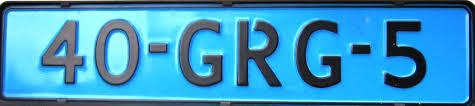 blauwe nummerplaat nederland